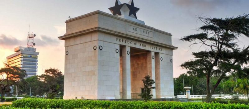 The Independence arch of Ghana